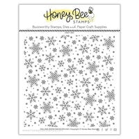 Honey Bee Stamps - Vintage Holiday Collection - Clear Photopolymer Stamps - Falling Snow Background
