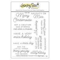 Honey Bee Stamps - Vintage Holiday Collection - Clear Photopolymer Stamps - Merry Christmouse
