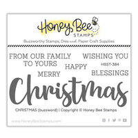 Honey Bee Stamps - Vintage Holiday Collection - Clear Photopolymer Stamps - Christmas Buzzword