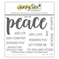 Honey Bee Stamps - Vintage Holiday Collection - Clear Photopolymer Stamps - Peace Buzzword