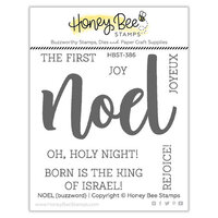 Honey Bee Stamps - Vintage Holiday Collection - Clear Photopolymer Stamps - Noel Buzzword