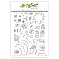 Honey Bee Stamps - Vintage Holiday Collection - Clear Photopolymer Stamps - Riding By - Holiday Style