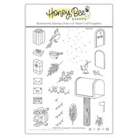 Honey Bee Stamps - Vintage Holiday Collection - Clear Photopolymer Stamps - Merry Mail