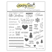 Honey Bee Stamps - Vintage Holiday Collection - Clear Photopolymer Stamps - Tag, You're It - Holidays