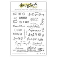 Honey Bee Stamps - Vintage Holiday Collection - Clear Photopolymer Stamps - Tag, You're It - Celebrations