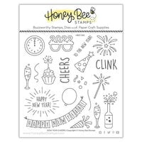 Honey Bee Stamps - Vintage Holiday Collection - Clear Photopolymer Stamps - New Year Cheers