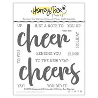 Honey Bee Stamps - Vintage Holiday Collection - Clear Photopolymer Stamps - Cheers Buzzword