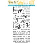 Honey Bee Stamps - Clear Acrylic Stamps - Happiness