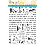 Honey Bee Stamps - Clear Acrylic Stamps - Thanks and Giving
