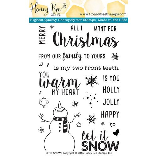 Honey Bee Stamps - Christmas - Clear Photopolymer Stamps - Let It Snow