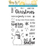 Honey Bee Stamps - Christmas - Clear Acrylic Stamps - Let It Snow