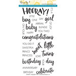 Honey Bee Stamps - Clear Acrylic Stamps - Hooray