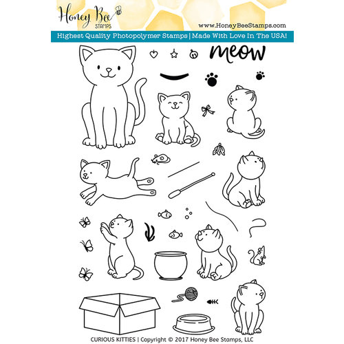 Honey Bee Stamps - Clear Acrylic Stamps - Curious Kitties