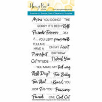 Honey Bee Stamps - Clear Acrylic Stamps - Pawsome Sentiments
