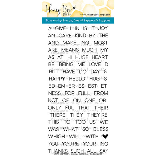 Honey Bee Stamps - Clear Photopolymer Stamps - Simple Sentiments