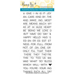 Honey Bee Stamps - Clear Acrylic Stamps - Simple Sentiments