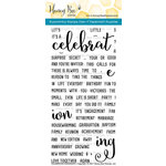 Honey Bee Stamps - Clear Acrylic Stamps - Celebration Sentiments