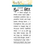 Honey Bee Stamps - Clear Acrylic Stamps - Bee-You-Tiful Sentiments