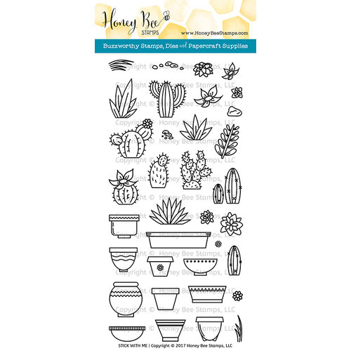 Honey Bee Stamps - Clear Photopolymer Stamps - Stick With Me