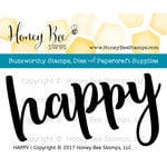 Honey Bee Stamps - Clear Acrylic Stamps - Happy