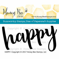 Honey Bee Stamps - Clear Photopolymer Stamps - Happy