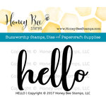 Honey Bee Stamps - Clear Acrylic Stamps - Hello
