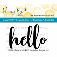 Honey Bee Stamps - Clear Photopolymer Stamps - Hello