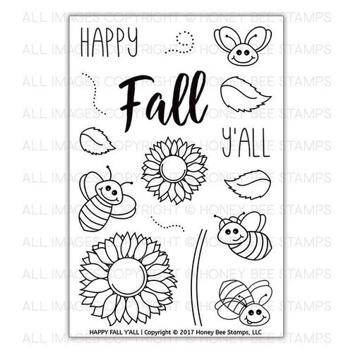 Honey Bee Stamps - Clear Photopolymer Stamps - Happy Fall Y