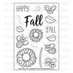 Honey Bee Stamps - Clear Acrylic Stamps - Happy Fall Y'all