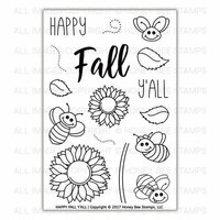 Honey Bee Stamps - Clear Photopolymer Stamps - Happy Fall Y'all