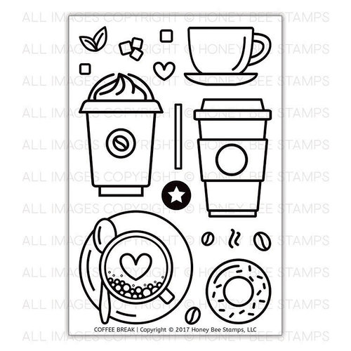 Honey Bee Stamps - Clear Photopolymer Stamps - Coffee Break