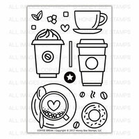 Honey Bee Stamps - Clear Acrylic Stamps - Coffee Break