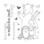 Honey Bee Stamps - Clear Acrylic Stamps - Forest Friends