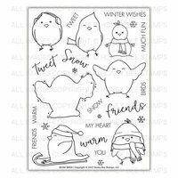 Honey Bee Stamps - Christmas - Clear Photopolymer Stamps - Snow Birds