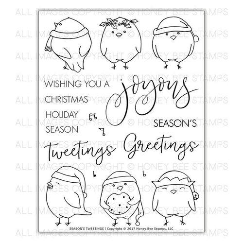 Honey Bee Stamps - Christmas - Clear Acrylic Stamps - Seasons Tweetings
