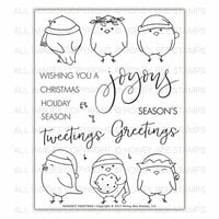 Honey Bee Stamps - Christmas - Clear Photopolymer Stamps - Seasons Tweetings