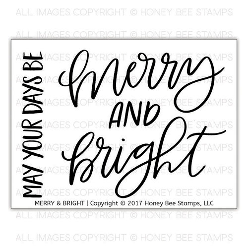 Honey Bee Stamps - Christmas - Clear Acrylic Stamps - Merry and Bright