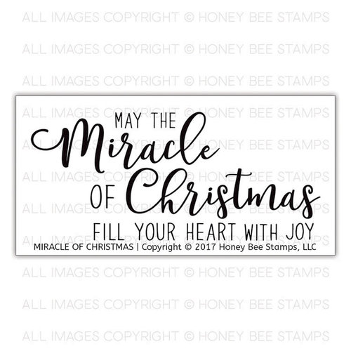The Miracle Of Christmas.Honey Bee Stamps Christmas Clear Photopolymer Stamps Miracle Of Christmas
