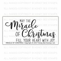 Honey Bee Stamps - Christmas - Clear Acrylic Stamps - Miracle of Christmas