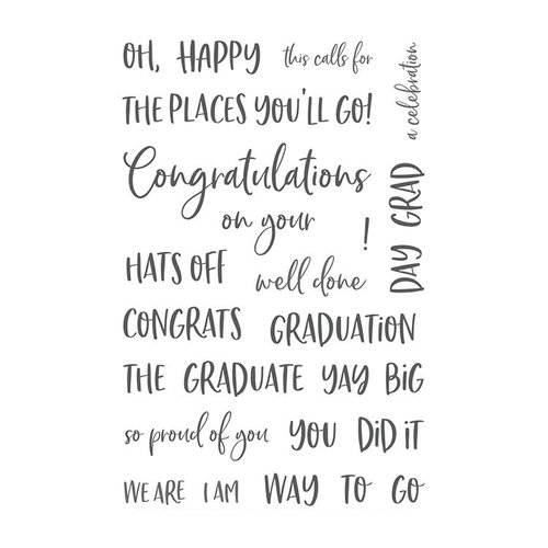 Honey Bee Stamps - Clear Photopolymer Stamps - Congrats, Grad