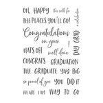 Honey Bee Stamps - Clear Acrylic Stamps - Congrats, Grad