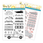 Honey Bee Stamps - Honey Cuts Dies and Clear Photopolymer Stamps - Little Pickup Bundle