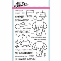 Heffy Doodle - Clear Photopolymer Stamps - Elephant of Surprise