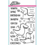 Heffy Doodle - Clear Acrylic Stamps - Happy Snappy Crocs