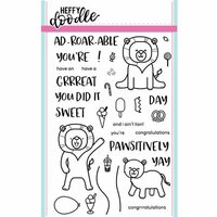 Heffy Doodle - Clear Photopolymer Stamps - Ad-roar-able Lions