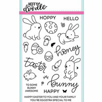 Heffy Doodle - Clear Photopolymer Stamps - Honey Bunny Boo
