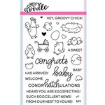 Heffy Doodle - Clear Acrylic Stamps - Eggcellent News