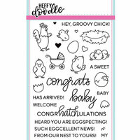 Heffy Doodle - Clear Photopolymer Stamps - Eggcellent News