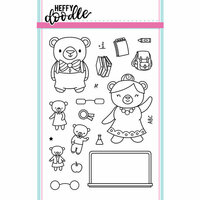 Heffy Doodle - Clear Photopolymer Stamps - Teacher's Pet