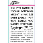 Heffy Doodle - Clear Acrylic Stamps - Teach Me Words